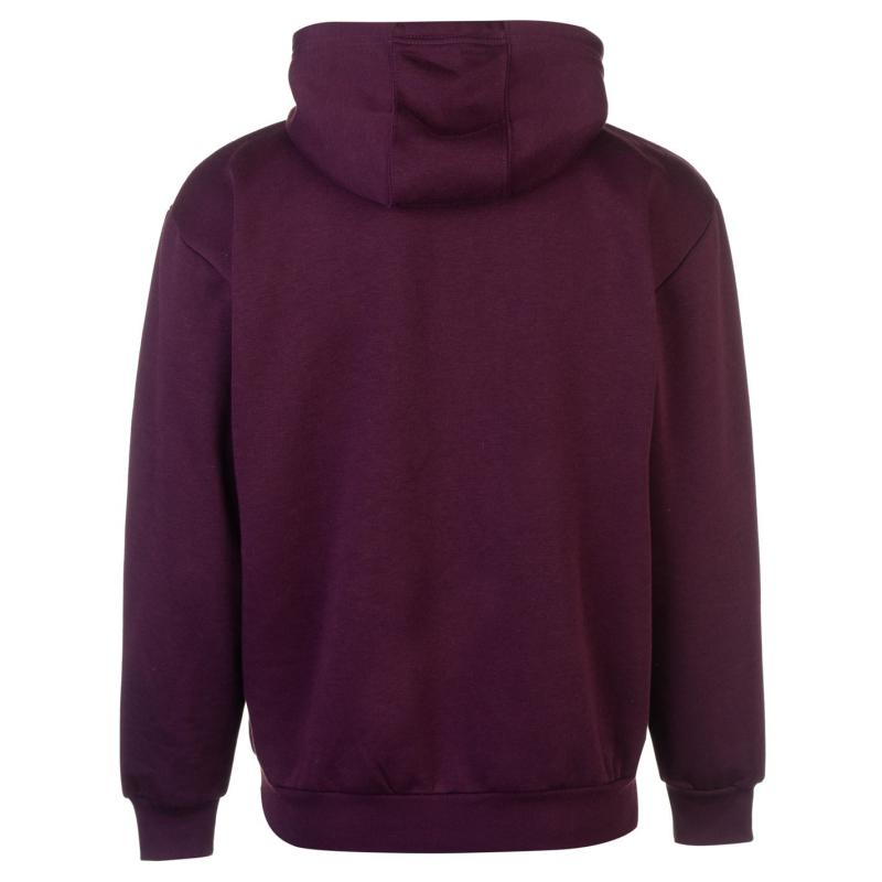 Slazenger Fleece Hoody Mens Purple