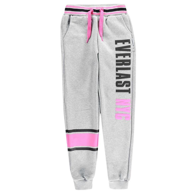 Everlast Stripe Girls Joggers Black/Pink