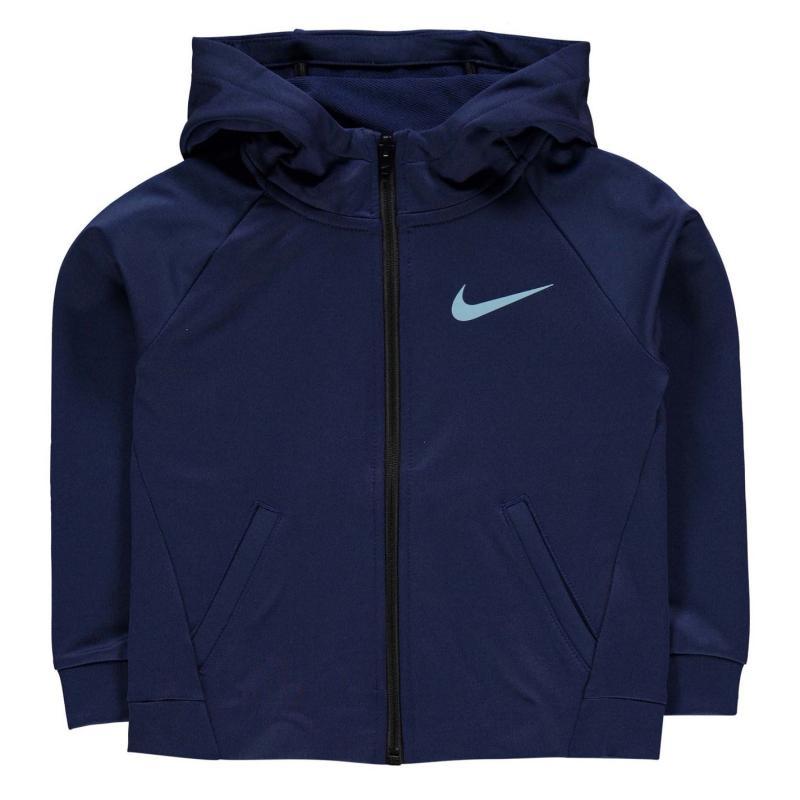 Mikina Nike Boys Badge Hooded Sweatshirt Binary Blue