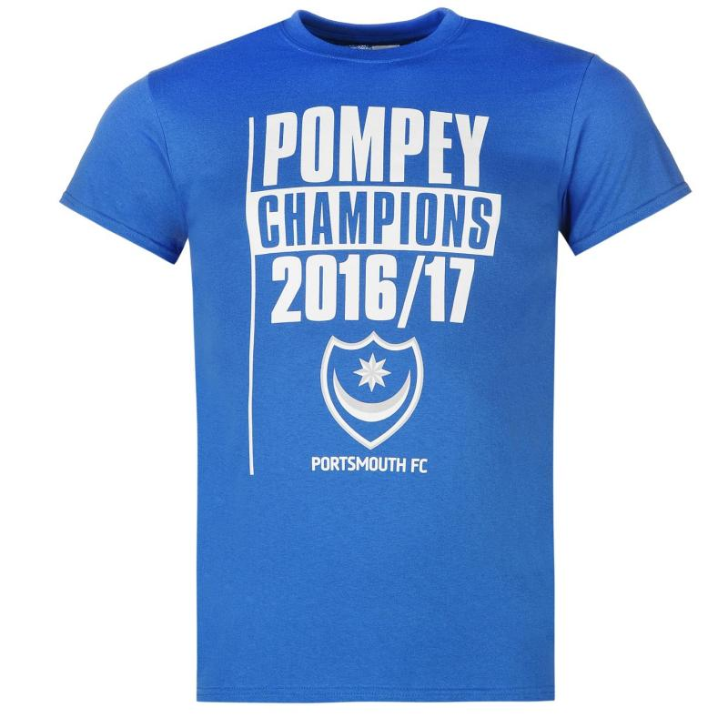 Tričko Team Portsmouth Champions T Shirt Mens Blue