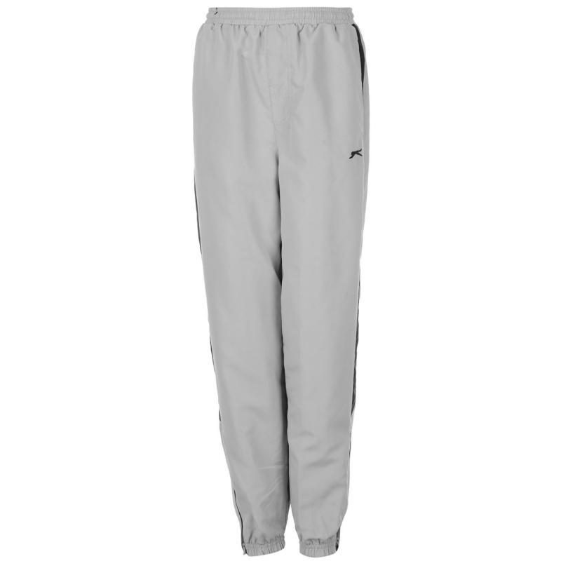 Tepláky Slazenger Closed Hem Woven Pants Juniors Silver