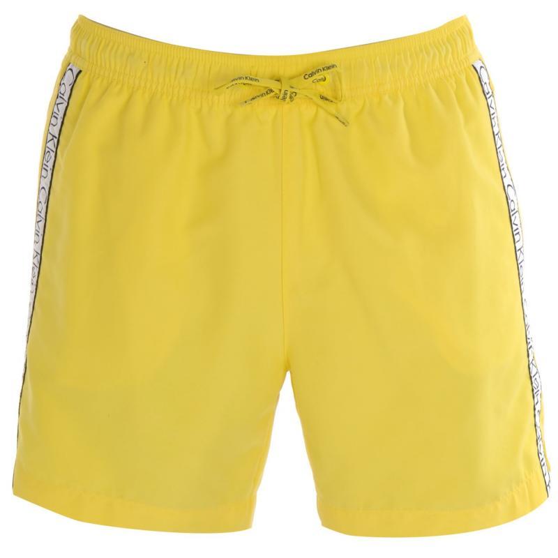 Calvin Klein Taped Drawstring Swim Shorts Yellow