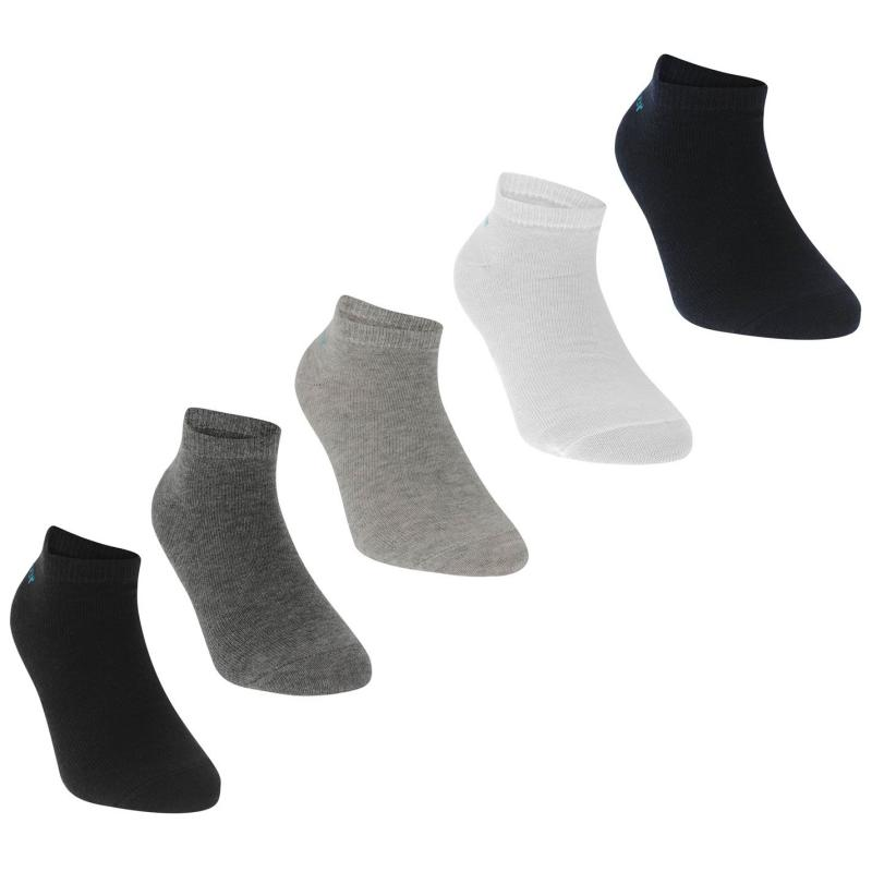 Ponožky Slazenger 5 Pack Trainers Socks Junior Bright Asst
