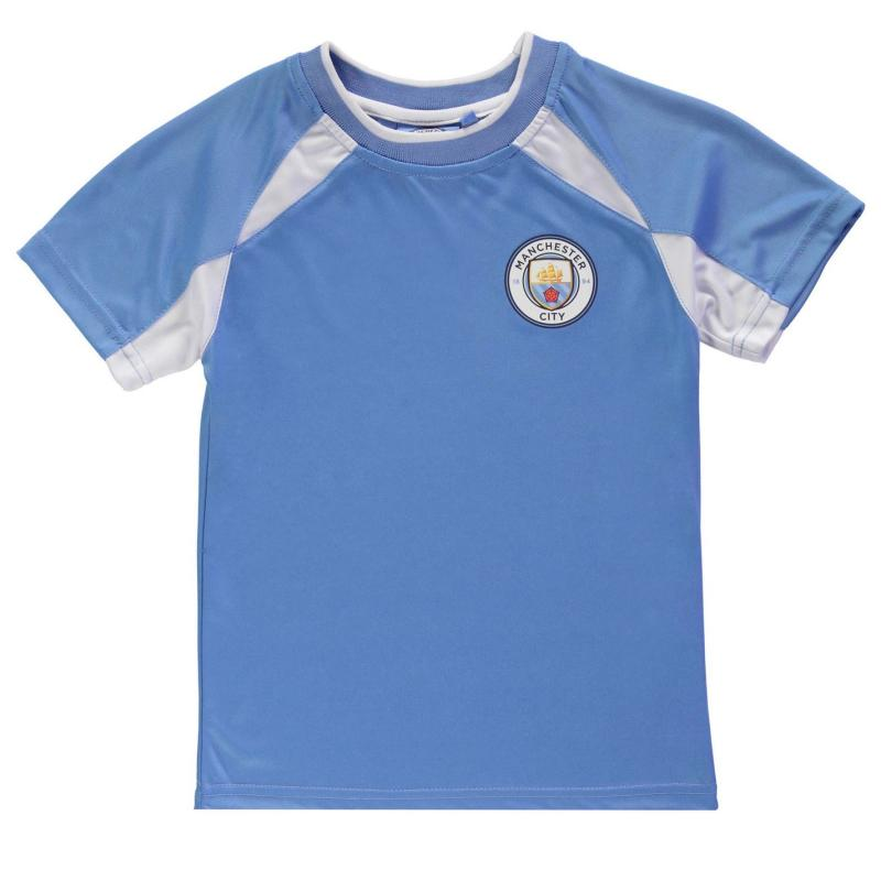 Tričko Source Lab Manchester City Poly T Shirt Junior Boys Sky