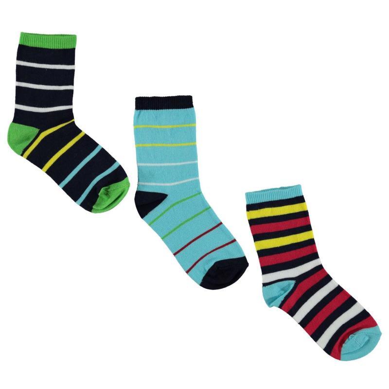 Ponožky Crafted 3 Pack Design Socks Blue Navy Green