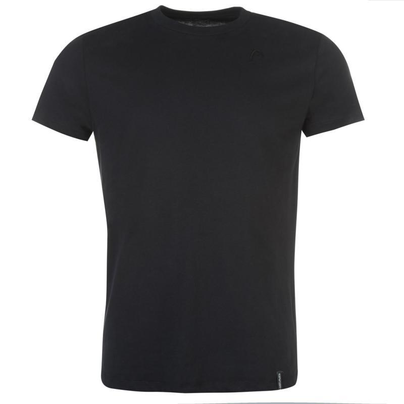 Tričko HEAD Rebel T Shirt Mens Black/White